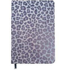 Perfect for jotting down memos and notes, an A5 sized notebook set with a Cheetah Print and lined inner pages