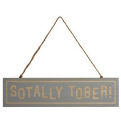 A quirky hanging plaque that will add charm to any bar or drinks corner!