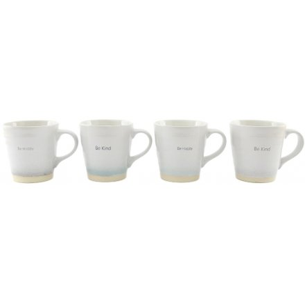 Embossed Cream Based Mugs, 4asst