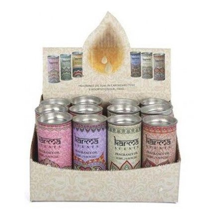Fragranced Karma Incense Oils, 6asst