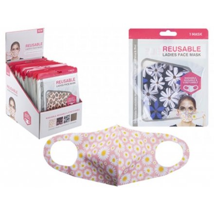 Washable Floral Print Face Coverings