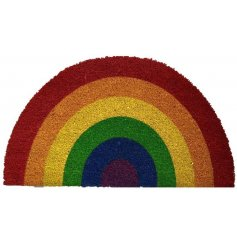 Add some Pride to your Front Door with this cheerful Rainbow Door Mat