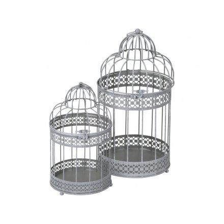 Set 2 Bird Cage Lanterns