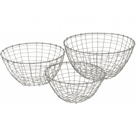 Grey Baskets, Set 3