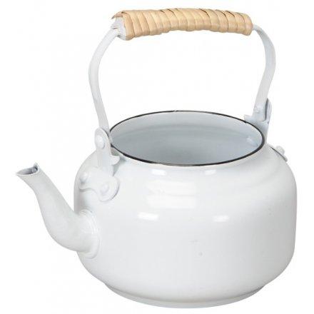 Teapot Planter, White