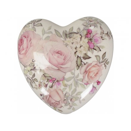 Pink Rose Heart, 11.5cm