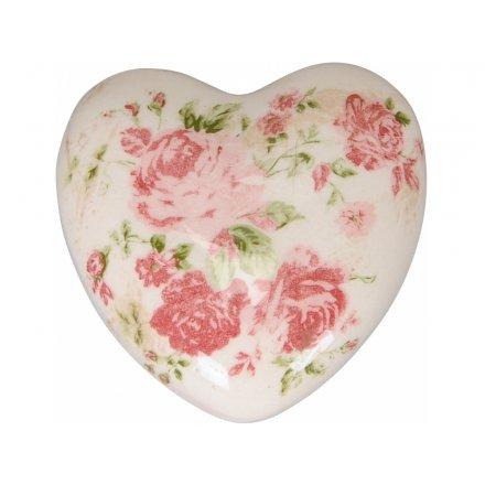 Small Decorative Rose Heart