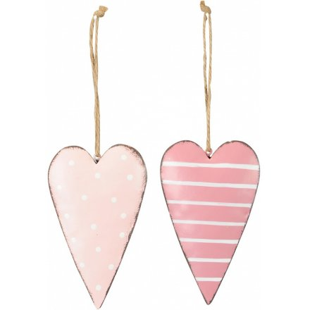 Large Pink Hanging Heart, 2a
