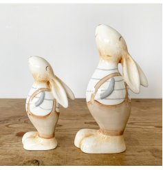 A must have charming interior accessory. With beautiful cream and grey tones this rustic bunny has plenty of character