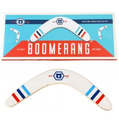 Sure to keep anyone entertained for hours! A wooden boomerang that does work!
