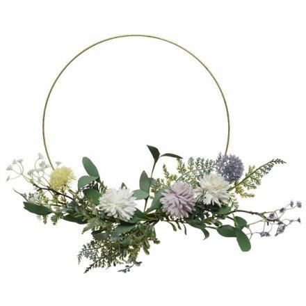 English Garden Hoop Wreath 40cm