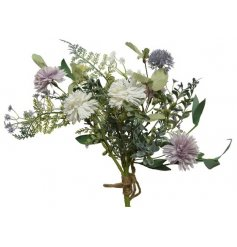 A fine quality artificial bunch of flowers. A must have interior accessory for the home!