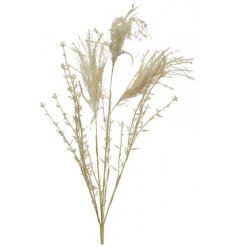 A spray of fine quality artificial flowers including pampas grass.