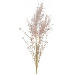 A pretty artificial spray featuring pink pampas grass. A must have interior accessory this season.