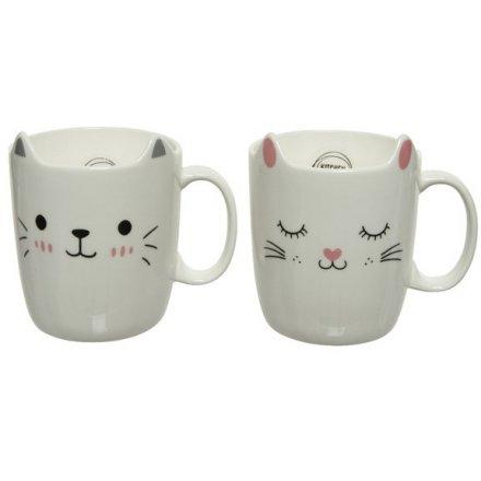 Contemporary Cat Mug, Mix