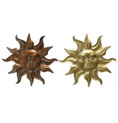 An assortment of 2 iron sunshine decorations for the home or garden.