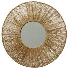 Stay on trend with this stunning natural woven jute mirror