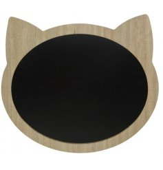 Stay organised with this fun and unique cat shaped chalkboard.