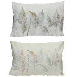 An assortment of 2 digitally printed cushions, each with a whimsical watercolour design.