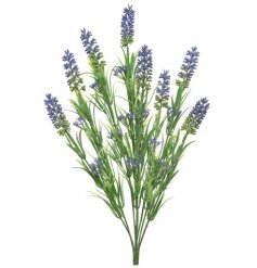 A fine quality artificial lavender spray. Perfect for dressing your favourite pots and planters.