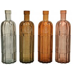 Made from 100% recycled glass these stylish bottles come in an assortment of on trend brown and pink hues.