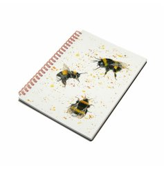 A hardback notebook decorated with a charming Bee decal