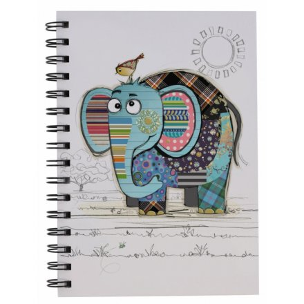 Eric Elephant Bug Art A5 Notebook