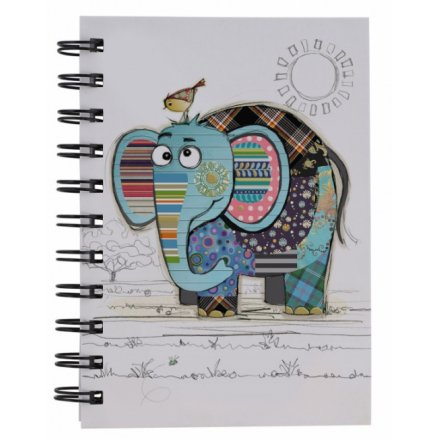 Eric Elephant Bug Art A6 Notebook