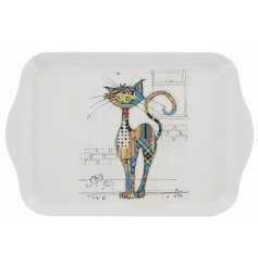 Part of the quirky and colourful homewares from the Bug Art Range, this Cola Cat small serving tray is must have in any