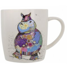 A quirky and colourful china mug from the Bug Art Fine China Range
