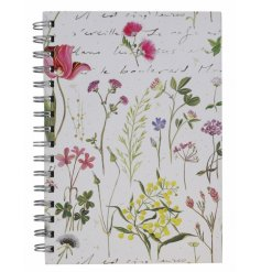 An A5 sized note book decorated with a charming Gardenia inspired printed decal