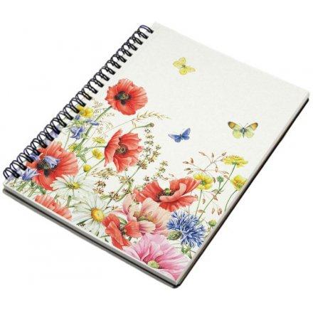 Poppy Garden A5 Notebook From Turnowsky