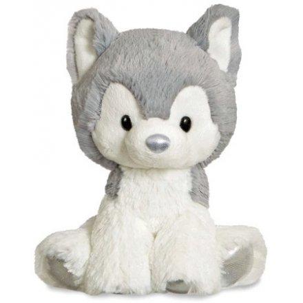 Glitzy Tots Silver Husky