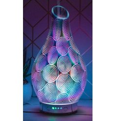 A gorgeous glowing LED Aroma Lamp with an added humidifier use