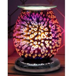 A touch sensitive LED Aroma Lamp with an added heat setting and dipped dish for wax/oil melting