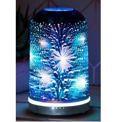 a brightly illuminated Desire Aroma Humidifier lamp covered with a 3D Sparkle decal
