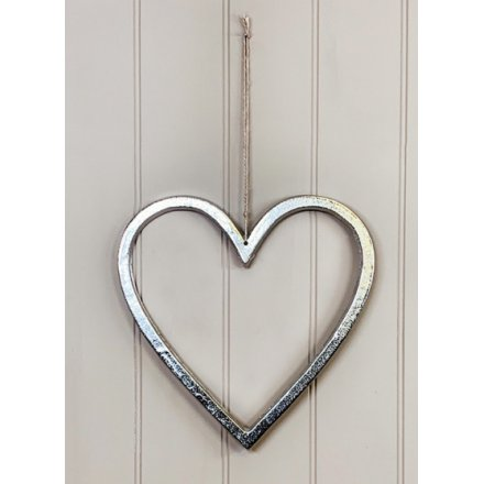 Decorative Aluminium Heart, 30cm