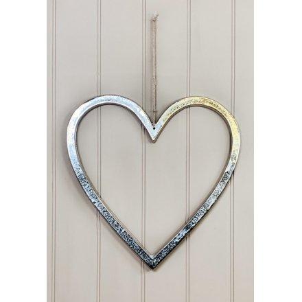 Decorative Aluminium Heart, 40cm