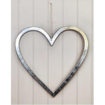 Decorative Aluminium Heart, 50cm