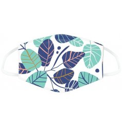 Brighten up your days out shopping while still staying safe with this pretty floral leaf face covering