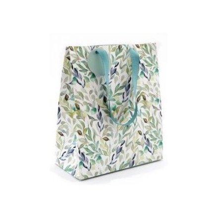 Green Leaf Printed Gift Bag, 23cm