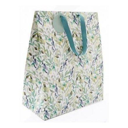 Green Leaf Printed Gift Bag, 33cm