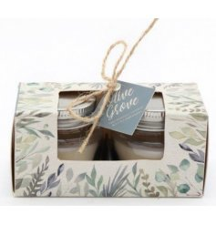 A sweetly scented wax filled candle complete with a pretty printed presentation box