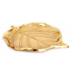 A decorative trinket dish set with a realistic leaf inspired look and design