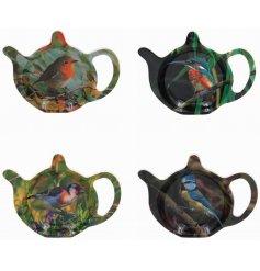 Charming Bird Tea Bag Tidy, 4 Assortment