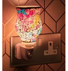 A Multicoloured Mosaic inspired Plug In Warmer that will be sure to produce a delightful aroma to any home space