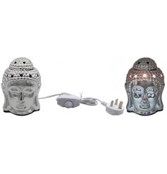 Sure to bring a Zen inspired feel to any home space, a plug in operated Buddha Head Wax Burner