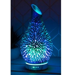 A gorgeous glowing LED Aroma Lamp with an added humidifier use. This Aroma Lamp is decorated with a beautiful 3D shootin
