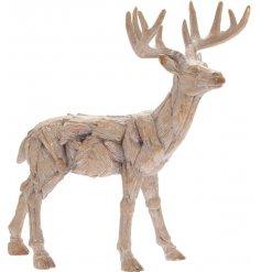Rustic Driftwood Deer
