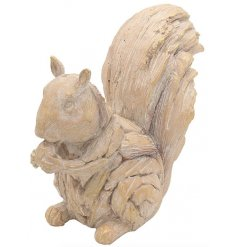 A charming little driftwood inspired squirrel ornament complete with a distressed finish